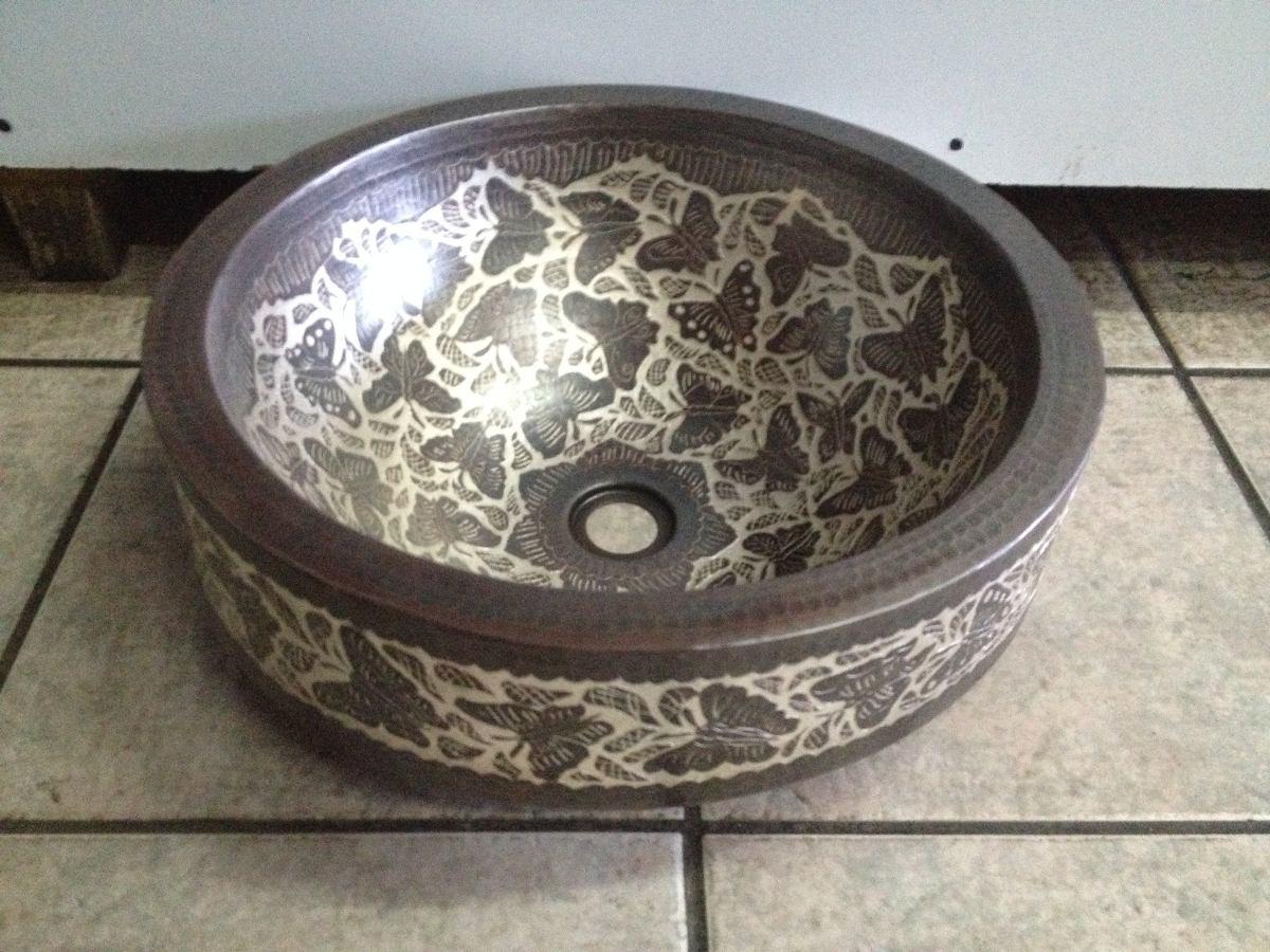 lavabos de cobre con faldon decorados en plata jocelin