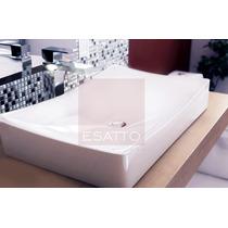 Esatto - Ovalín Lavabo De Ceramica Blanca Importado A230 Vv4