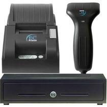 Kit Punto De Venta Ec Line Lector Miniprinter Cajon Dinero