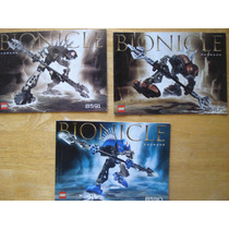 3 Instructivos Para Armar Bionicles En 30.00 Por Los 3