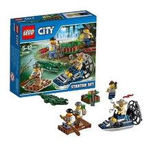 Lego City Pantano Policía Starter Set Barco Raft Alligator E
