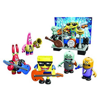 Bob Esponga Set Figuras Mega Blocks Banda Rock Remate