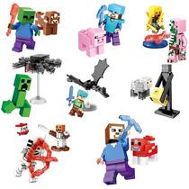 Set Complet Sw6 Minecraft Steve Pig Ende Compatible Con Lego