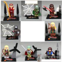 Figuras Tipo Lego Del Señor De Los Anillos (orcos Y Elfos)