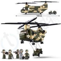 Modelo Helicóptero - Sluban Transporte B0508 Edificio Ejér