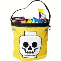 Lego Halloween , Bolsa Amarilla Para Dulces Y Uso Cotidiano