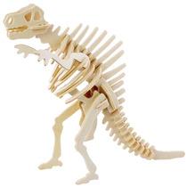 Dinosaurio De Madera - Juego De Spinosaurus 3 Rompecabezas D