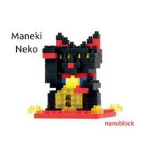 Nanoblocks - Animal - Gato De La Suerte Maneki Neko (negro)