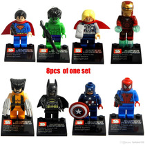 Figuras Tipo Lego De Superheroes (iron Man, Batman, Etc)