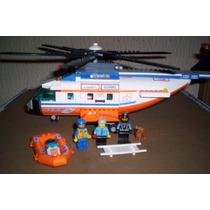 Lego Helicoptero Guardacostas Con Figuras