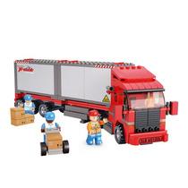 Modelo Truck - Sluban Doble Van Tren De Carga De Remolque