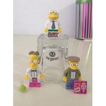 Los Simpsons Lego Profesor Fink & Hans Moleman Y Smithers