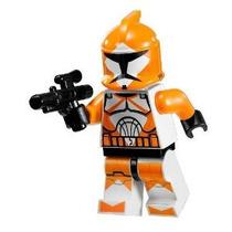 Lego Star Wars Minifigure - Orange Bomb Squad Trooper Con Bl