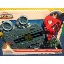 Helicarrier Helitransporte Playskool Héroes Hulk Irón Man