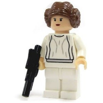 Lego Star Wars Princesa Leia Minifigure Con Blaster