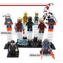 Increible Set Armaduras Iron Man Compatibles Con Figura Lego