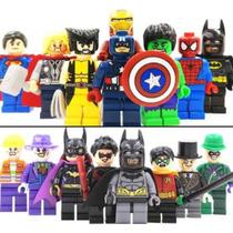 2 Sets De Batman+superhéroes 16pzs Compatibles Con Lego