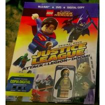 Lego La Liga De La Justicia Bluray Con Figura