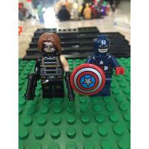 Marvel Capitan America Y Bucky Boki Avengers Compatible Lego