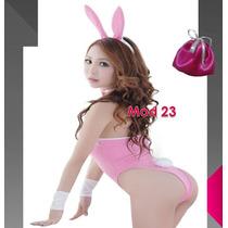 Disfraz Conejita Sexy Playboy Orejas 6 Piezas