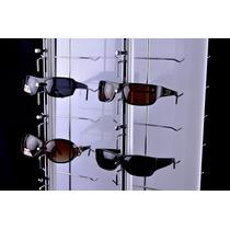 Exhibidor Lentes 16 Pz Pared De Llave Aluminio Antirrobo