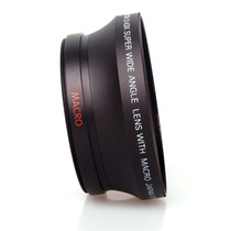 Lente Gran Angular 67mm 72mm 0.45x Hd Camaras Foto Video Mn4