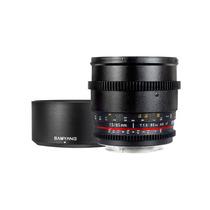 Lente Samyang Cine Sycv85m-mft 85mm T1.5 Para Nikon Dslr Hm4