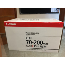 Canon Lente Ef 70-200 Mm F/2.8l Is Ii Usm, Nuevo !!