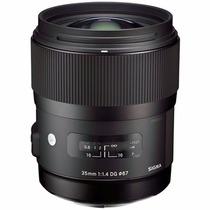Sigma Lente 35mm F/1.4 Dg Hsm Art Sigma P/ Canon