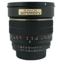 Objetivo Lente 85mm F1.4 Aspherical Lens P/ Canon Nuevo Hm4