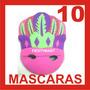 10 Antifaces Fiesta Boda Dj Lentes Mascara Peluca Penacho