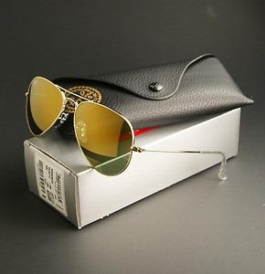 gafas ray ban aviator doradas
