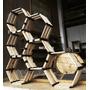 Huacalli Hexagonal (precio Por Hexágono) De Madera Reciclada