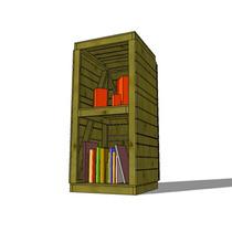 Librero De Madera Chico, Muebles, Sala, Comedor
