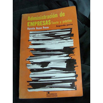 Libro Administracion De Empresas, Agustin Reyes Ponce