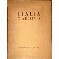 Italia Y Abisinia Roma Fotografías Mapas Libro