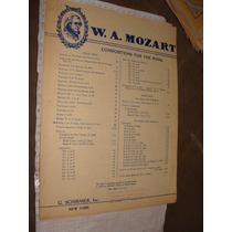 Antigua Partitura Para Piano ,rondo, Mozart