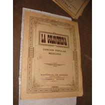 Antigua Partitura Para Piano ,la Golondrina, Cancion Popula