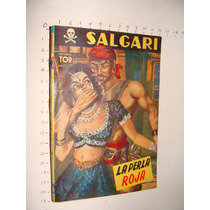 Libro La Perla Roja, Salgari, Ediciones Tor, Año 1957, 128 P