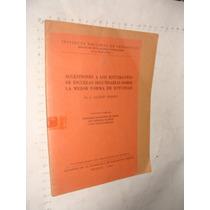 Libro Antiguo Sugestiones A Los Estudiantes De Escuelas Secu