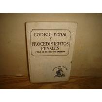 Código Penal Y Procedimientos Penales Para El Estado Jalisco