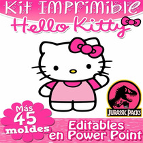 Kit Imprimible Hello Kitty Fiesta Cajitas Armable Editable