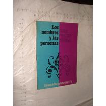 Libro Los Nombres Y Las Personas , Luis Valenzuela , Año 197
