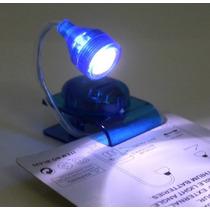 Miniclip Lampara Transparente Led Lectura Luz Noche Camp E4f