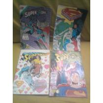 Superman Hombre De Acero Lote De 4 Serie Aguila 1987 Vid