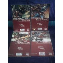 Marvel Comic Hombre Araña Amazing Spiderman Civil Wars Lote