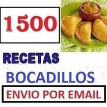 1500 Recetas D Bocadillos, Snaks Postres, Arreglos Frutales