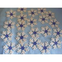 Obleas Frozen Copos De Nieve Comestibles Personalizadas