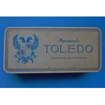Antiguo Caja Metalica De Mazapanestoledo 50s. Maa