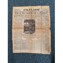 Periodico Exelsior Lindbergh En Paris